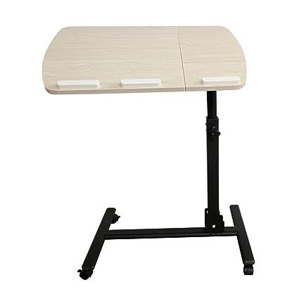 Axdwfd Laptop Stand portátil, Sofá, Mesa Lateral con Alfombrilla para ratón, Altura Ajustable