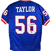$145 » Lawrence Taylor Autographed Blue Pro Style Jersey- Beckett W Black