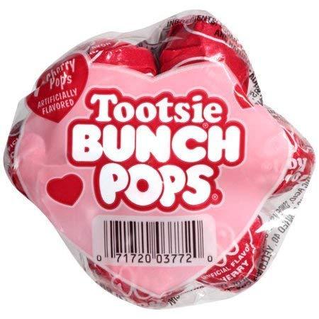 Lollipop Bouquet - Tootsie Valentine Bunch Pops with Love Card, 7 Red Cherry Lollipops