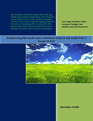 R.e.a.d Architecting Microsoft Azure Solutions Study & Lab Guide Part 2: Exam 70-535<br />R.A.R