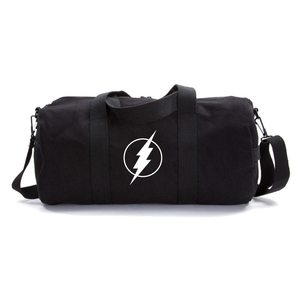 Flash Comic Superhero Army Heavyweight Canvas Duffel Bag in Black, Large