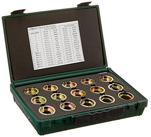 Greenlee KD12CU Die Kit for 6 AWG -750 Kcmil MCM Copper Connectors