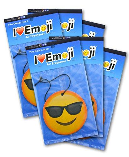 Emoji Face with Sunglasses Air Freshener Pina Colada Scent - With Sunglasses Face Emoji