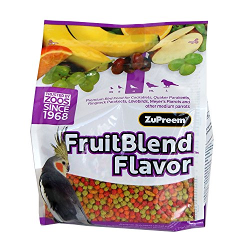 ZUPREEM 230340 Fruitblend Medium Tiel Caged Bird Food, 35-Pound (Fruit Blend Zupreem Flavor)