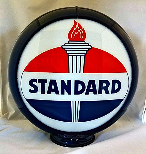 (The Finest Website Inc. New Reproduction Standard Oil Gas Pump Globe Already Assembled - Dark Blue Outer Frame - Ships Free Next Business Day to Lower 48 States)