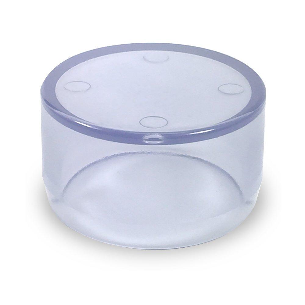 FORMUFIT F114EEC-UV PVC External End Cap Clear 1-1//4 Size Furniture Grade