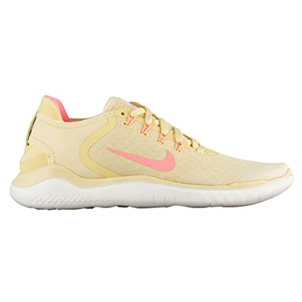 sports shoes 1ee0f 5644e Nike Free Rn 2018 Sz 5 Womens Running Lemon Wash/Crimson Pulse-Fossil-Sail  Shoes