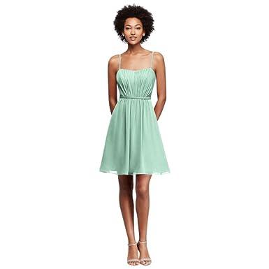 79f0dffef7a David s Bridal Chiffon Short Bridesmaid Dress Pleating Style F19229 ...