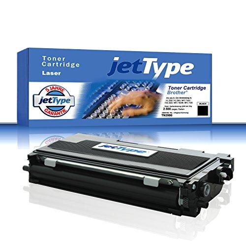 TN 2000 / TN2000 Toner kompatibel für Brother HL 2030 / HL 2040 / MFC 7420 / FAX 2820 / MFC 7820N / MFC 7220, schwarz, 2.500 Seiten