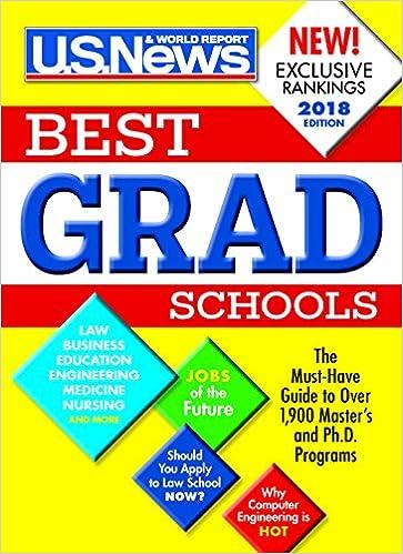 Best Graduate Schools 2018: U. S. News and World Report, Anne ...