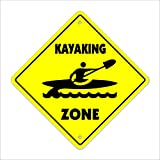 Kayaking Crossing Sign Zone Xing | Indoor/Outdoor...