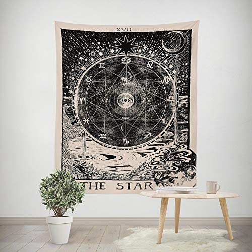 - Euone  Christmas Clearance , Tarot Tapices Tapestry Tunic Tapestry Tablecloth Home Decor 150100CM (A, 150100CM)