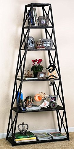 - Iron 82'' Tall Display Etagere | Six Shelf Metal Freestanding Bronze Book