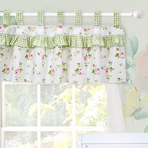 Brandream Valance Baby Window Valance Window Treatment Curtain Valance for Toddler Kid Room (Charming Fairy Tale) ()