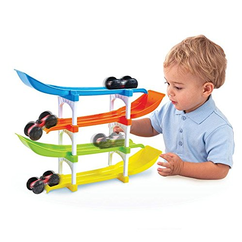 KidSource-Flip-and-Go-Racer-4-Level-Race-Track-and-Ramp-Car-Toy-for-Toddlers-Ages-2-Years-Old-and-Up