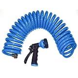 Orbit Sunmate 27891 Lawn & Garden Blue Coil Hose & Spray Nozzle, 50-Foot