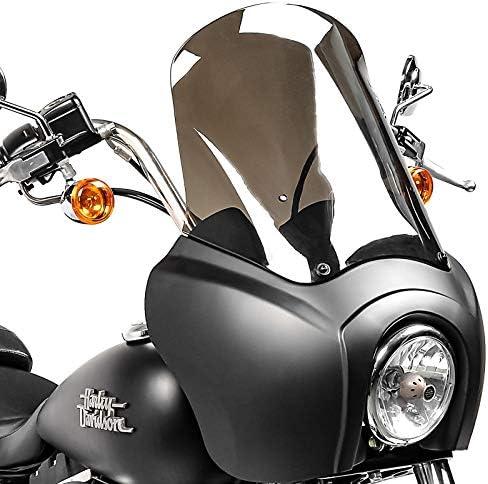 Verkleidung Mg5 Kompatibel Für Harley Dyna Low Rider Street Bob Schwarz Matt Rauchgrau Auto
