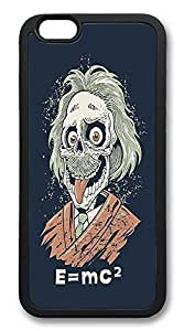 ACESR Albert Einstein Customize iPhone 6 Case TPU Back Cover Case for Apple iPhone 6 4.7inch Black