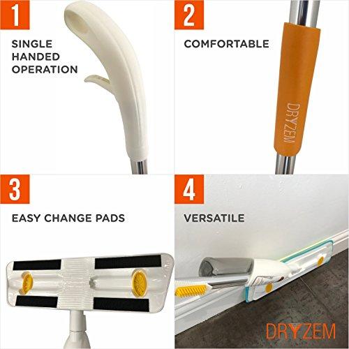 -[ 360 Multi Mop with Refillable Bottle, Reusable Microfibre Spray Mop Pad and Scraper- Lifetime Wa