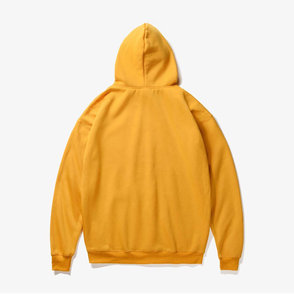Kirbyates Mens Splicing Button Pullover Long Sleeve Hooded Drawstring Sweatshirt Tops Blouse with Pocket