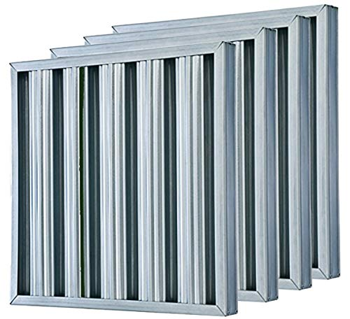 (Heavy-Duty Aluminum 20x20x2 (4 pack) Baffle Filter By Trophy Air - Made in USA - Durable & Cost-Effective, Innovative Technology For Improved Airflow, Dishwasher-Safe & Reliable Design (20x20x2-4))