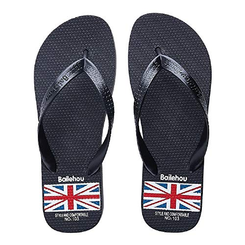 Qiusa Sandals Union Bleu Summer 38 Bleu Clip Flip pour Taille Jack Flat EU Flops coloré Toe Femmes rrqnavd1w