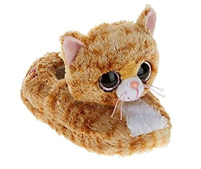 Beanie Boo Girls Slippers Faux Fur Cat Tabitha Slip on