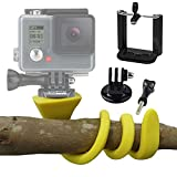 Banana Pod - Flexible Tripod Mount & Selfie Stick for iPhone, Samsung, SJ4000, Sony Actioncam, GoPro, Action Cam - Mounts to Any Surface - By Everlong Gadgets