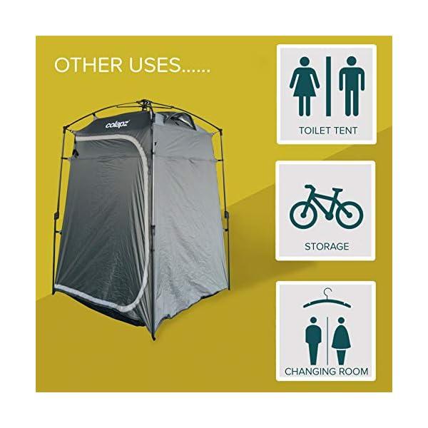 51yQRa16wGL Colapz Duschzelt Camping - Camping Toilette hoch - Mobiler Sichtschutz Outdoor Pop Up Changing Tent - Mobile Dusche Zelt