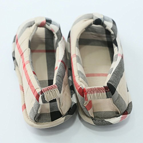 Size HAON Check 5 Up Slippers US Cozy to Assorted 7 Colors Room Shoes 76q61rwY