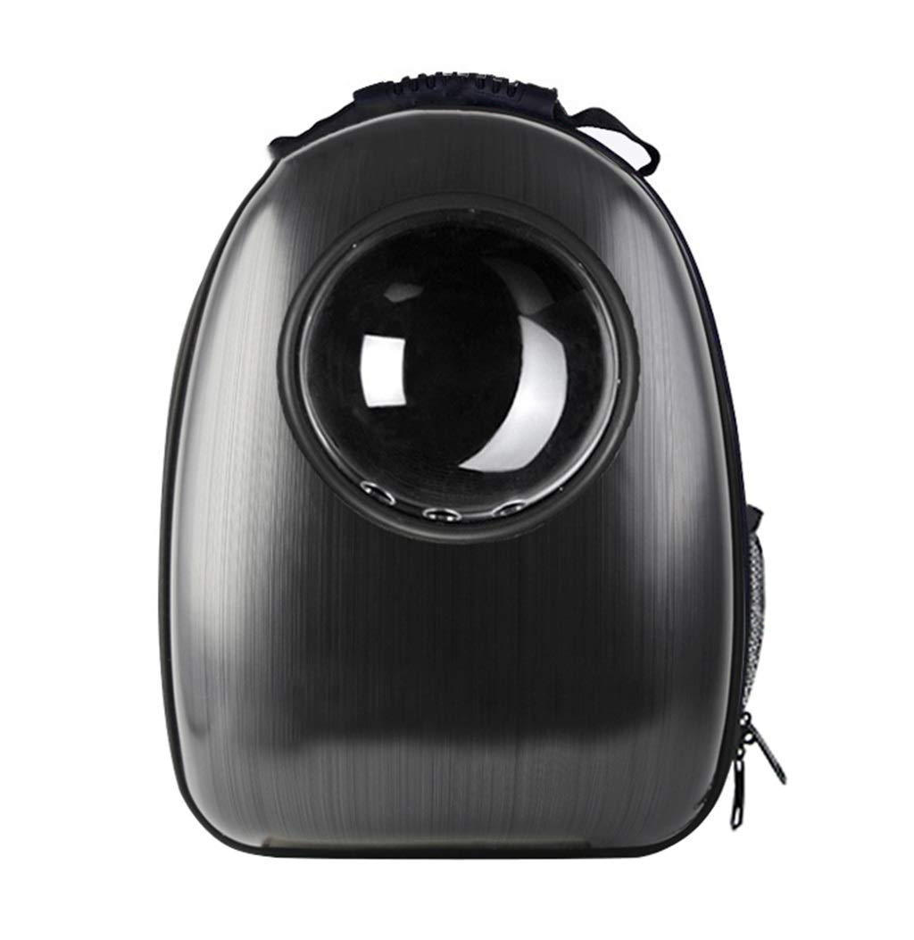 Pet Carrier Backpack,Puppy Travel Hiking Camping Pet Carrier,Space Capsule Bubble Design,Waterproof Handbag for Cat and Small Dogs (Black)
