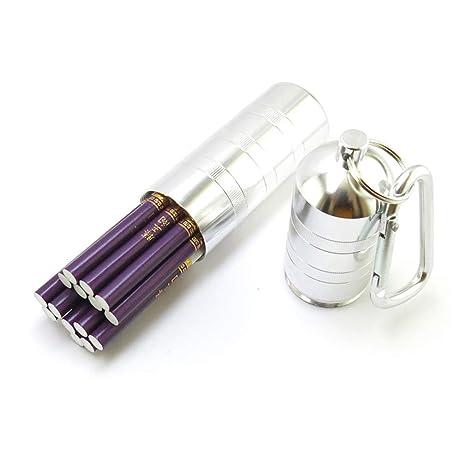 QLIGHA Caja de Cigarrillos de aleación de Aluminio con ...