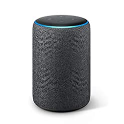Certified Refurbished Echo Plus (2nd Gen) – Premium sound with a built-in smart home hub – Charcoal Fabric