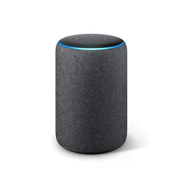 Echo Plus (2ème génération), Son de qualité premium avec un hub maison connectée intégré, Tissu anthracite 2