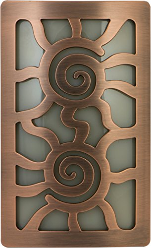 GE 12205 Night Light with LED Light Sensing Coverlite, Aztec Sun Faux Bronze by GE