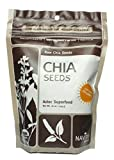 Navitas Naturals Chia Seeds Aztec Superfood, 16 Ounce Pouch ( 5-Pack)