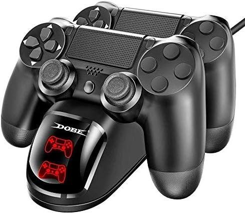 GYHS / PS4プロゲームコントローラジョイパッドジョイスティックPS4 / PS4スリム用デュアルUSBハンドルを用いた高速充電ステーションのサポートの充電器 (色 : ブラック)