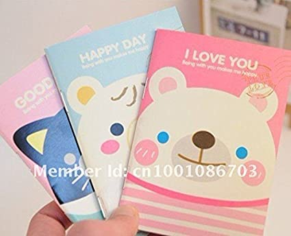 Amazon.com : Animal paper notebook/Lovely Mini Diary Book ...