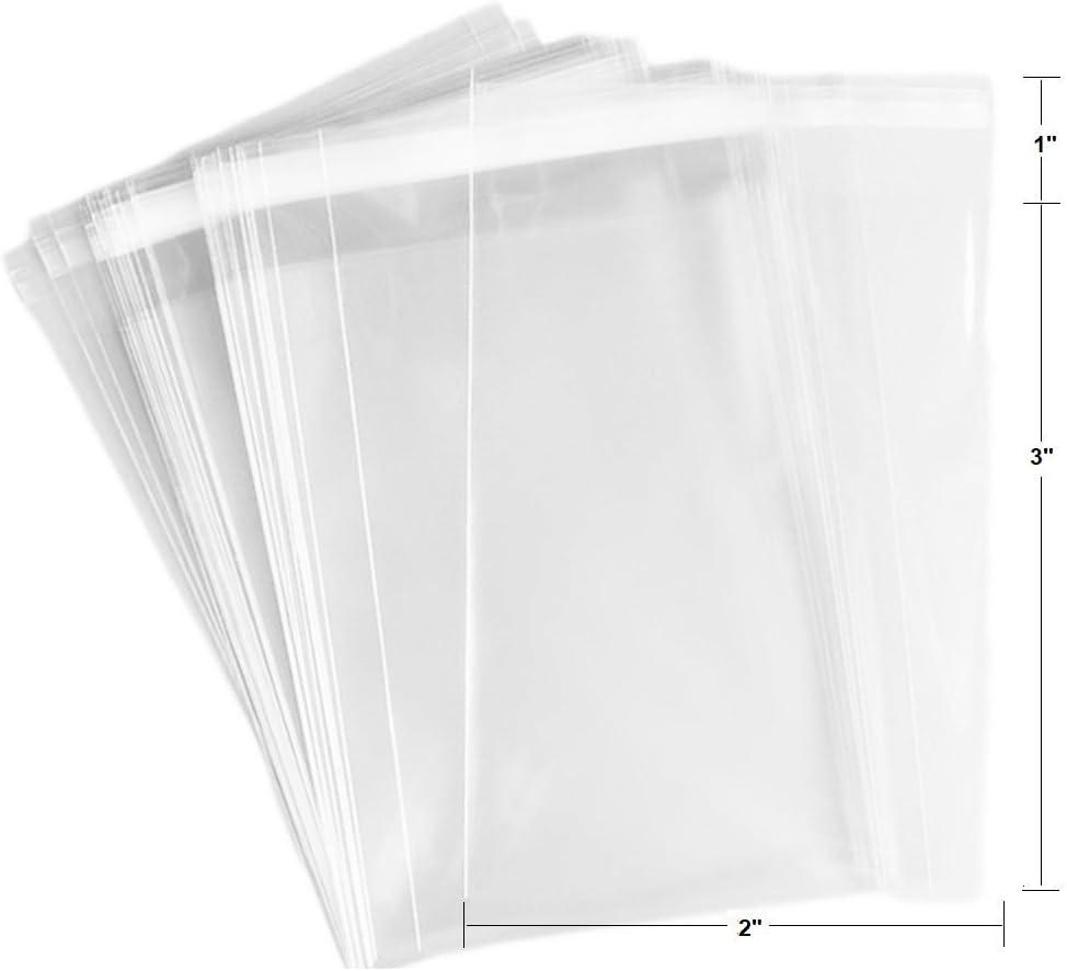 100 Pcs 2x3 2Mil Clear Flat Cello / 2