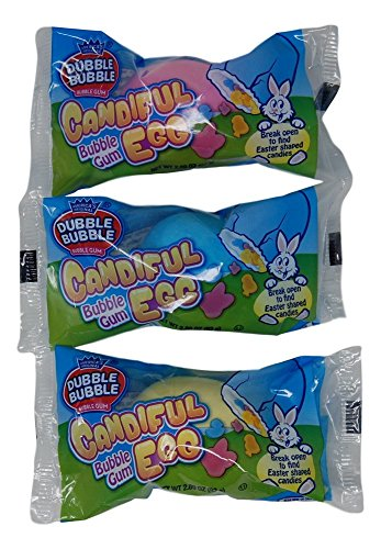Easter Eggs Candy Filled By Dubble Bubble - 2.89 oz, 3 Pack