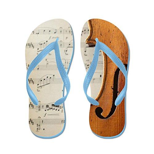 Cafepress Onderdeel Van Een Antieke Viool - Flip Flops, Grappige String Sandalen, Strand Sandalen Caribbean Blue