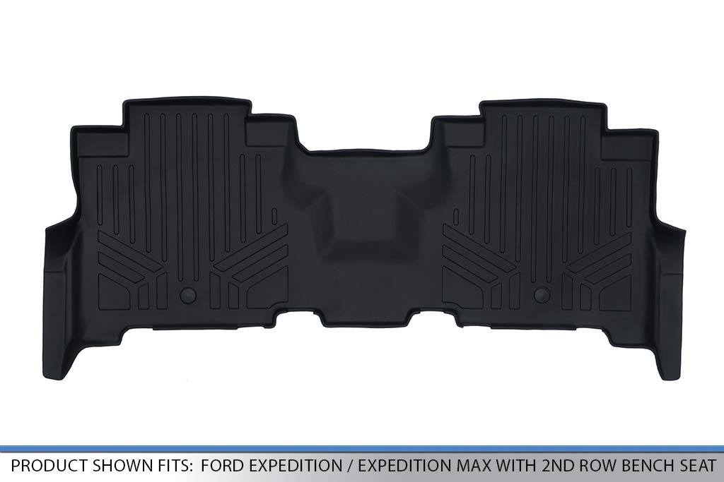 MAX LINER B0351 Floor Mats Liner Black for 2018-2019 Expedition//Navigator with 2nd Row Bench Seat Including Max and L
