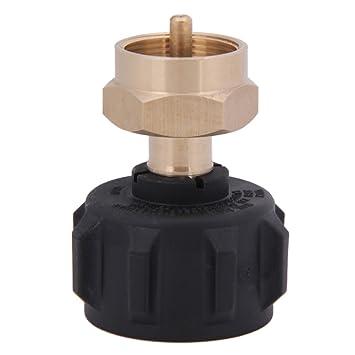 Mensi 1Lb Válvula de regulador de Gas propano QCC1 propano adaptador de recarga para estufa al aire libre barbacoa: Amazon.es: Jardín