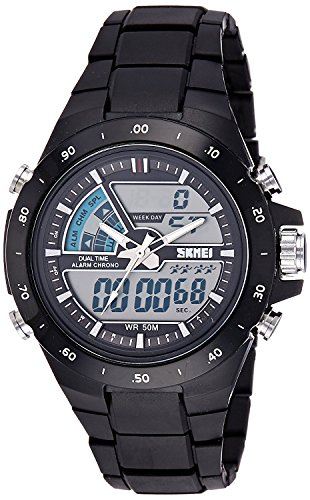 SKMEI Analog Digital Black Dial Men's Watch  AD1016