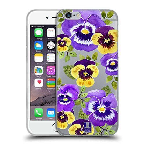 - Head Case Designs Pansies Watercolour Flowers 2 Soft Gel Case for iPhone 6 / iPhone 6s