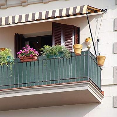 relaxdays Panel de ocultación de jardín, Rollo de Aislamiento, HDPE, Protección Solar, 1,2 x 6 m, Verde: Amazon.es: Hogar