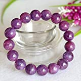 1 Strands Natural Purple Pink South Africa Ruby Stretch Bracelet Round Big beads 12mm 04362