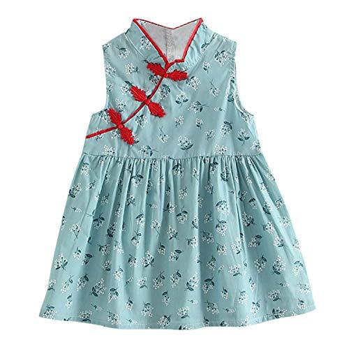 Summer Girls Dresses Cheongsam Dress Girl Clothing Princess Dress Children Costume Kids Clothes,l,4T