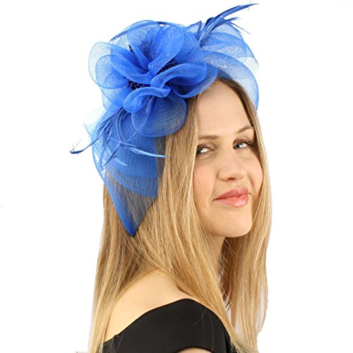 [Handmade Floral Beads Feathers Headband Fascinator Millinery Cocktail Hat] (Maid Hat)