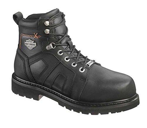 Harley-Davidson Men's Chad Steel Toe 5-In Motorcycle Boots. D93176 (Black, -